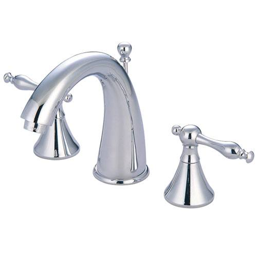 Kingston Brass Chrome 2 Handle Widespread Bathroom Faucet w Pop-up KS2971NL