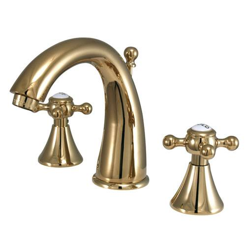 Kingston English Country Polished Brass Widespread Bathroom Faucet KS2972BX