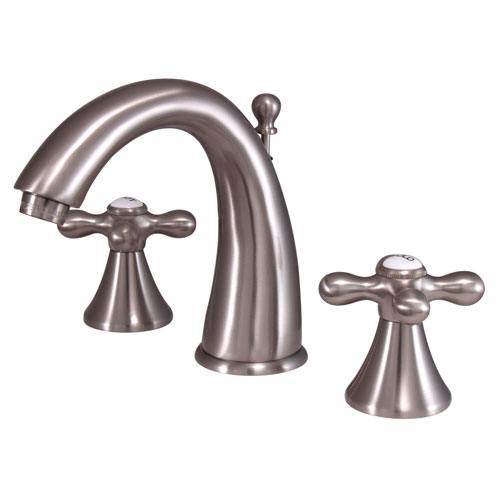 Kingston Satin Nickel 2 Handle Widespread Bathroom Faucet w Pop-up KS2978AX
