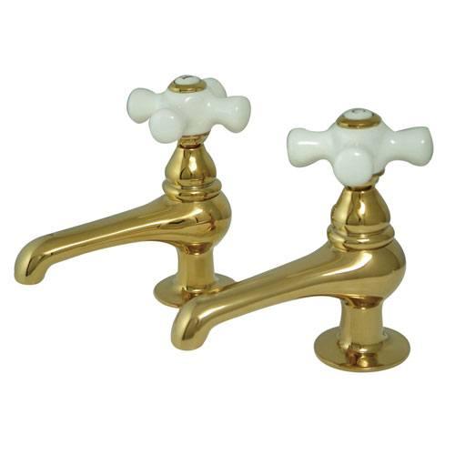 Kingston Brass Polished Brass Basin Sink Vintage Style Bathroom Faucet KS3202PX
