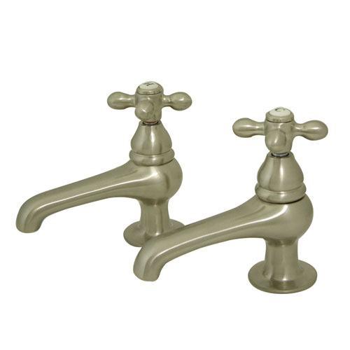 Kingston Brass Satin Nickel Basin Sink Vintage Style Bathroom Faucet KS3208AX