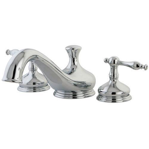 Kingston Brass Chrome Heritage Two Handle Roman Tub Filler Faucet KS3331NL