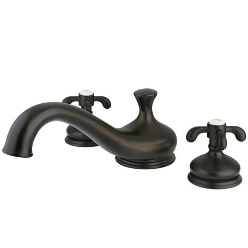 Kingston Brass Oil Rubbed Bronze Deck Mount Roman tub filler Faucet KS3335TX