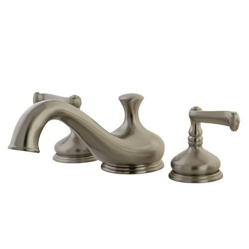Kingston Brass Satin Nickel Royale Two Handle Roman Tub Filler Faucet KS3338FL