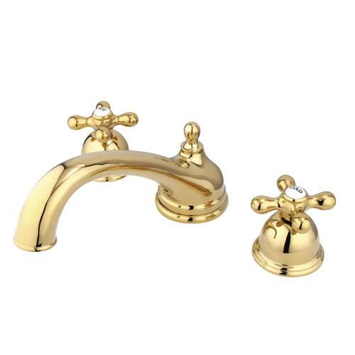 Kingston Polished Brass Vintage Two Handle Roman Tub Filler Faucet KS3352AX