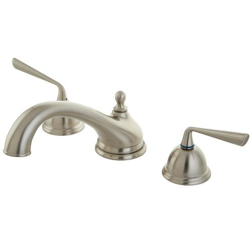 Kingston Brass Silver Sage Satin Nickel Bathroom Roman Tub Filler KS3358ZL