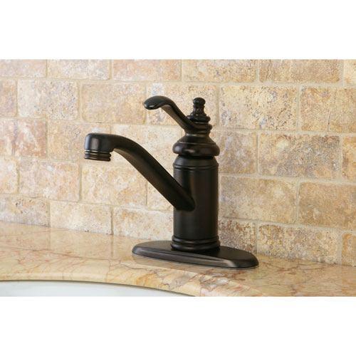 Oil Rubbed Bronze Templeton Single Handle Bathroom Faucet W/Push Drain KS3405TL