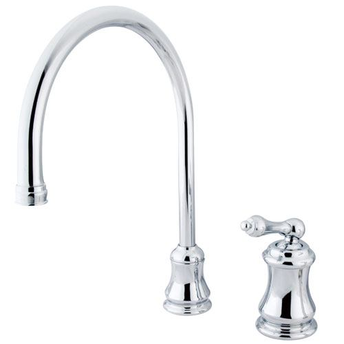 Kingston Brass Chrome Single Handle Widespread Kitchen Faucet KS3811ALLS