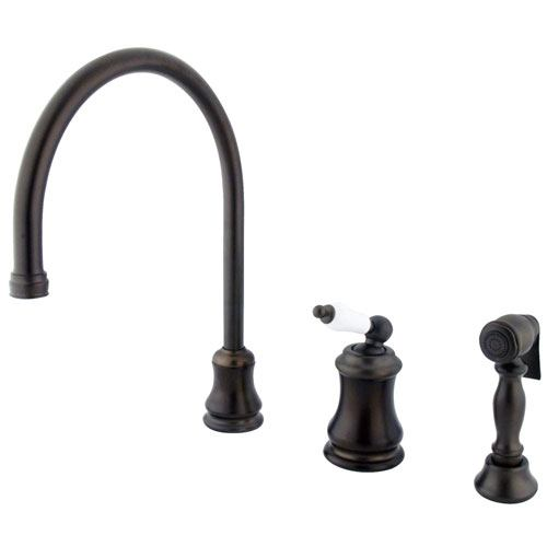 Oil Rubbed Bronze Single Handle Widespread Kitchen Faucet w Spray KS3815PLBS