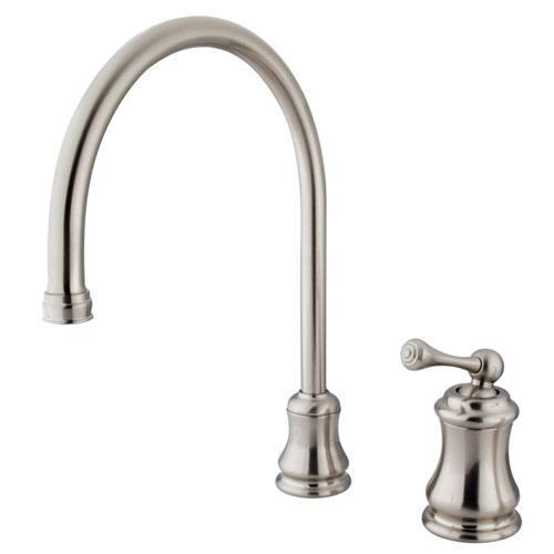 Kingston Satin Nickel Single Handle Widespread Kitchen Faucet KS3818BLLS