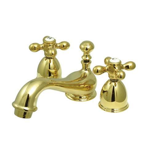 Kingston Brass Polished Brass Mini widespread Bathroom Lavatory Faucet KS3952AX