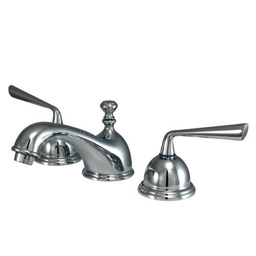 Kingston Brass Silver Sage Chrome Widespread Bathroom Lavatory Faucet KS3961ZL