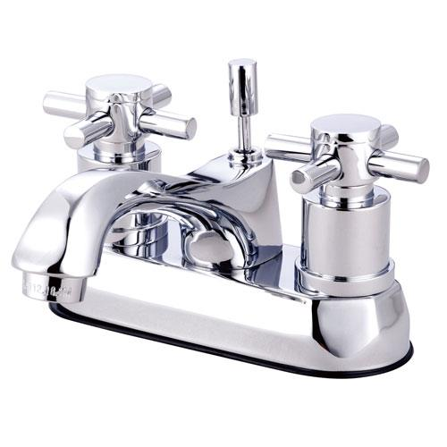 Chrome Two Handle Centerset Bathroom Faucet w/ Brass Pop-Up KS4261DX