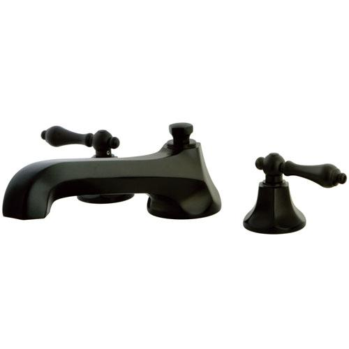 Oil Rubbed Bronze Metropolitan Two Handle Roman Tub Filler Faucet KS4305AL