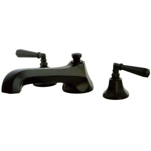 Oil Rubbed Bronze Metropolitan Two Handle Roman Tub Filler Faucet KS4305HL