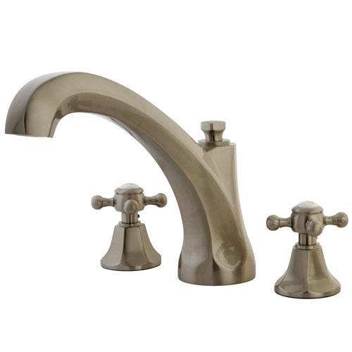 Kingston Satin Nickel Metropolitan Two Handle Roman Tub Filler Faucet KS4328BX