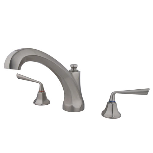 Kingston Brass Silver Sage Satin Nickel Bathroom Roman Tub Filler KS4328ZL