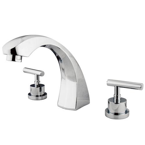 Kingston Brass Chrome Manhattan roman tub filler faucet KS4361CML