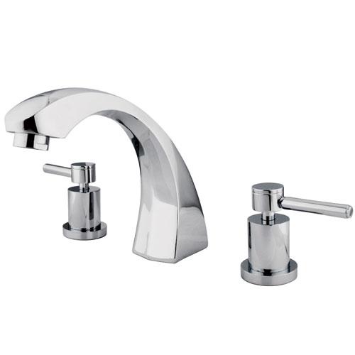 Kingston Brass Concord Chrome Two Handle Roman tub filler faucet KS4361DL
