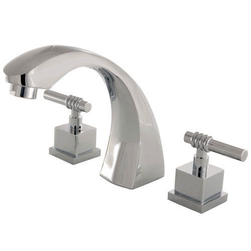 Kingston Brass Chrome Fortress Two Handle Roman Tub Filler Faucet KS4361QL