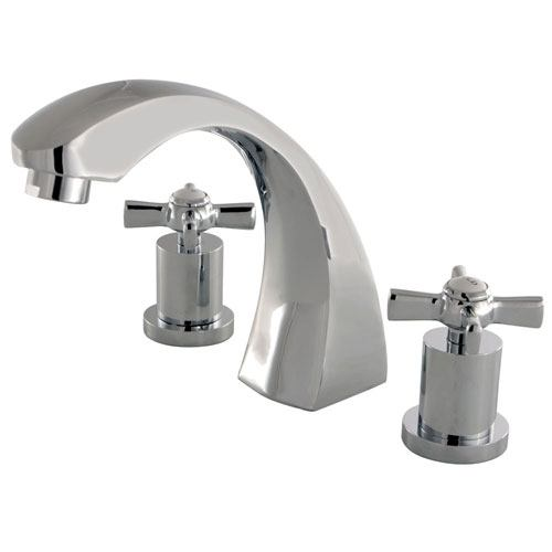 Kingston Brass KS4361ZX 2 Handle Roman Tub Filler Polished Chrome