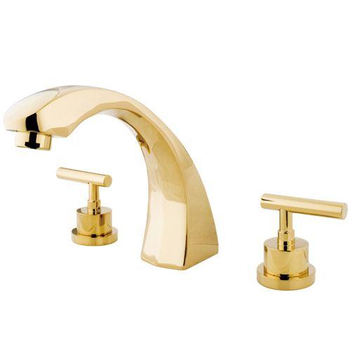 Kingston Brass Polished Brass Manhattan roman tub filler faucet KS4362CML