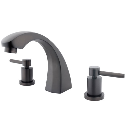 Kingston Brass Concord Oil Rubbed Bronze 2 Hdl Roman tub filler faucet KS4365DL