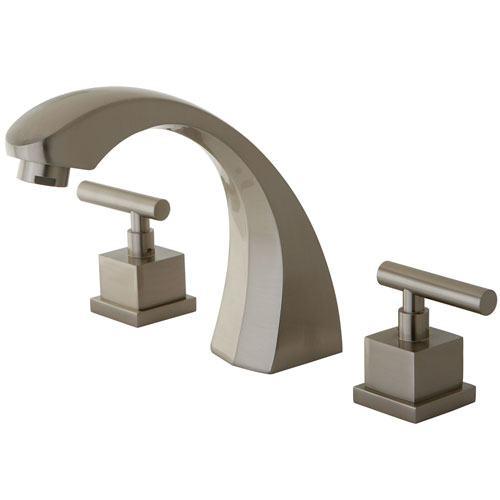 Kingston Brass Claremont Satin Nickel Roman Tub Filler Faucet w/valve KS4368CQL
