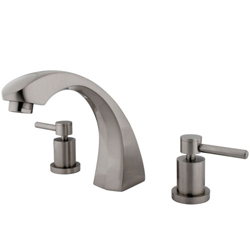 Kingston Brass Concord Satin Nickel Two Handle Roman tub filler faucet KS4368DL