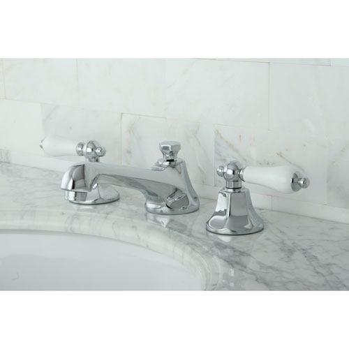 Kingston Brass Chrome 2 Handle Widespread Bathroom Faucet w Pop-up KS4461PL