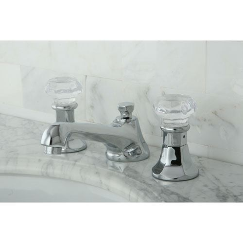 Kingston Brass Chrome 2 Handle Widespread Bathroom Faucet w Pop-up KS4461WCL