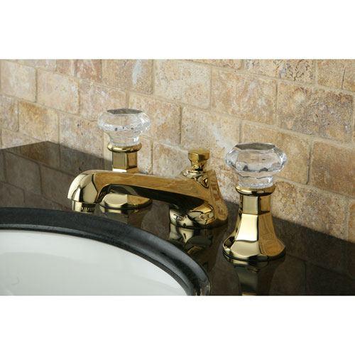 Kingston Polished Brass 2 Handle Widespread Bathroom Faucet w Pop-up KS4462WCL