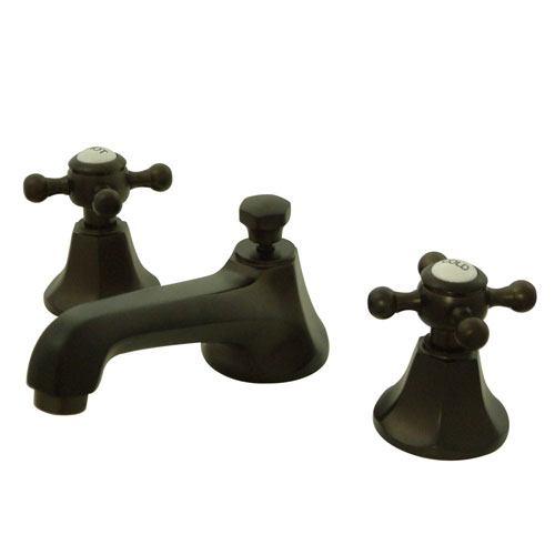 Kingston Oil Rubbed Bronze 2 Handle Widespread Bathroom Faucet w Pop-up KS4465BX