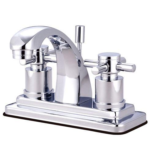 Chrome Two Handle Centerset Bathroom Faucet w/ Brass Pop-Up KS4641DX