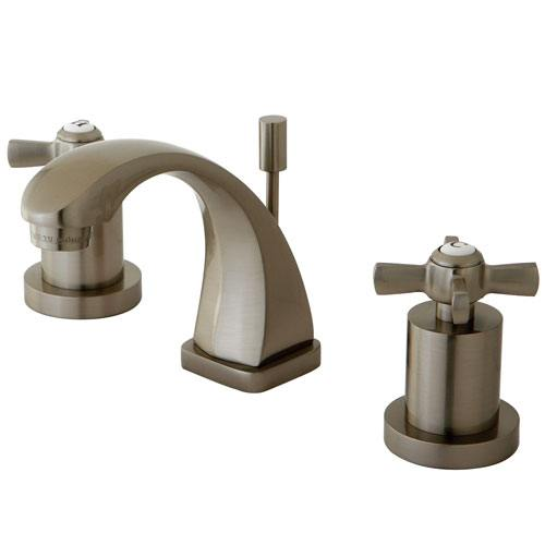 Kingston Brass KS4948ZX Mini Widespread Bathroom Faucet Satin Nickel