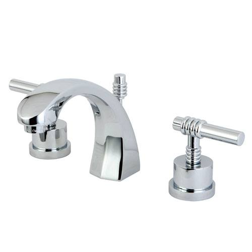Kingston Brass Chrome 2 Handle Widespread Bathroom Faucet w Pop-up KS4981ML