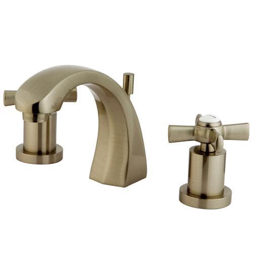 Kingston brass ks4988zx widespread bathroom faucet satin nickel for Satin nickel widespread bathroom faucet