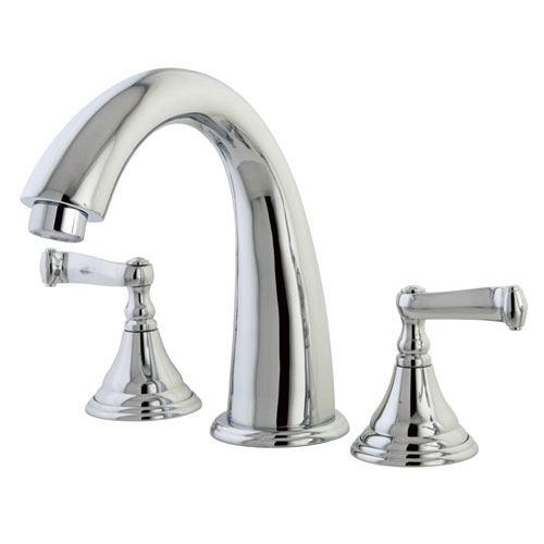 Kingston Brass Chrome Royale Two Handle Roman Tub Filler Faucet KS5361FL