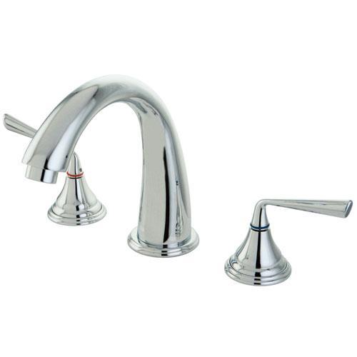 Kingston Brass Silver Sage Chrome Bathroom Roman Tub Filler KS5361ZL