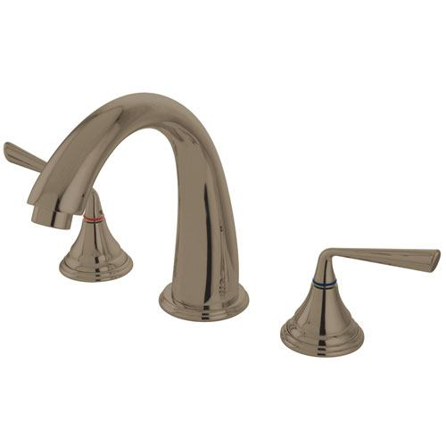 Kingston Brass Silver Sage Satin Nickel Bathroom Roman Tub Filler KS5368ZL