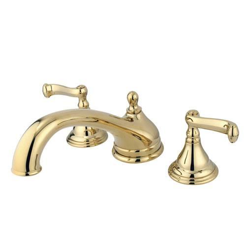 Kingston Brass Polished Brass Two Handle Roman Tub Filler Faucet KS5532FL