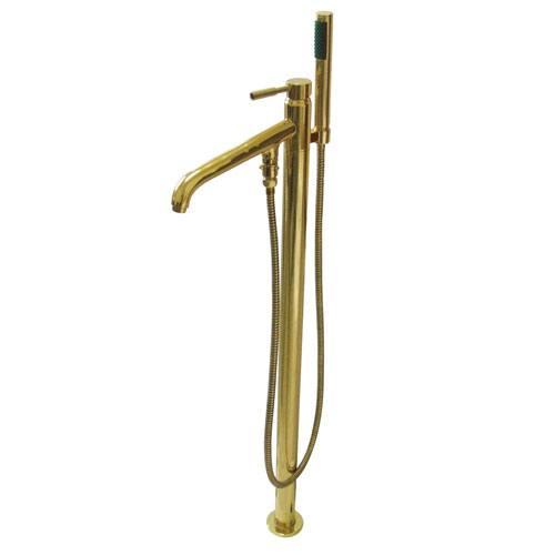 Concord Polished Brass Pillar Roman tub filler faucet w/Hand Shower KS8132DL