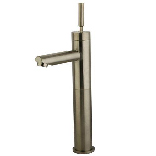 Satin Nickel Single Handle Vessel Sink Faucet w/out Pop-up & Plate KS8218DL