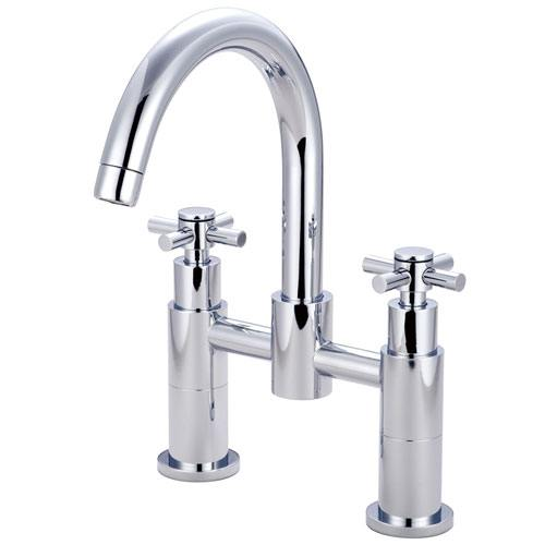 Concord Chrome Two Handle Deck-mount Roman tub filler faucet KS8261EX