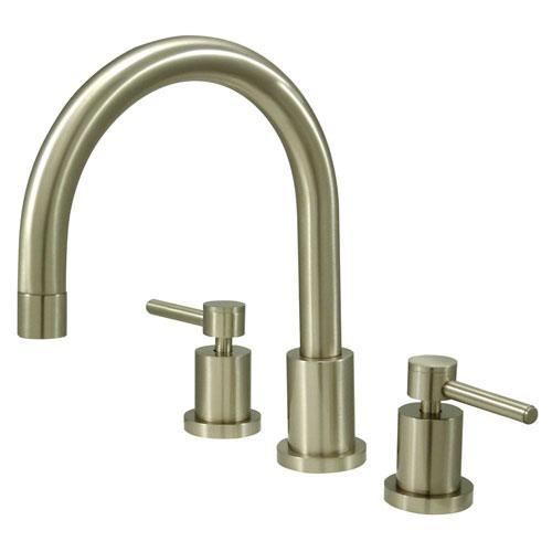 Kingston Brass Concord Satin Nickel Two Handle Roman tub filler faucet KS8328DL