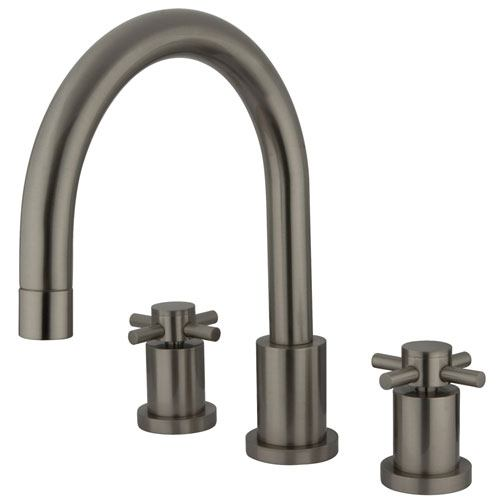 Kingston Brass Concord Satin Nickel Two Handle Roman tub filler faucet KS8328DX