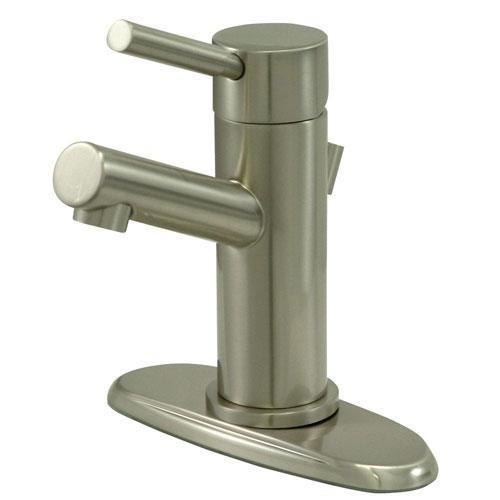 Kingston Concord Satin Nickel Single Handle Bathroom Faucet KS8428DL