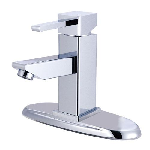 Kingston Brass Claremont Chrome Bathroom Faucet with Push Up Drain KS8441CL