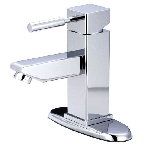 Kingston Concord Chrome Single Handle Bathroom Faucet w/ Cover Plate KS8441DL