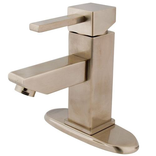 Kingston Brass Claremont Satin Nickel Bathroom Faucet w Push Up Drain KS8448CL
